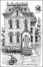 free printable coloring pages victorian house coloring