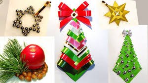 paper christmas tree craft home decorating interior design