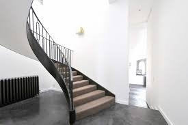 Helical Staircase Design Cantilevered Helical Staircase With Gun Metal Finish