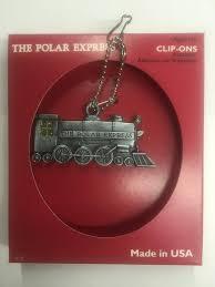 polar express pewter enamel ornament