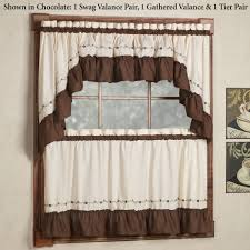Kitchen Tier Curtains by Kitchen Curtains Tiers And Valance Window Treatments Touch Of Class