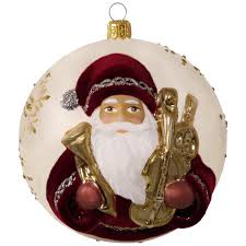hopeful father christmas premium blown glass ornament keepsake