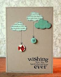 love this card with the buttons and the writing in the clouds i