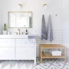 Ikea White Bathroom Cabinet by Ikea Lillangen Sink Base Cabinet Modern Bathroom Emily
