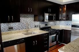 fabulous kitchen backsplash for dark cabinets fantastic home