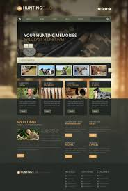 website template 51348 hunting club gun custom website template