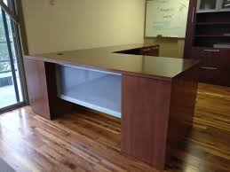 gesso executive desk set by indiana furniture showroom sample