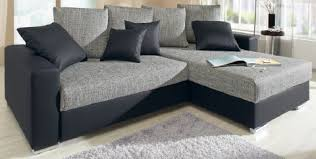 sofa mit federkern polsterecke eck sofa lederlook strukturstoff m federkern