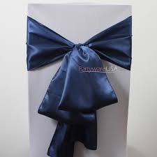 navy blue chair sashes wedding chair covers chair covers table linens wholesale at