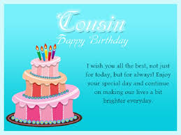 Happy Birthday Wishes For A Cousin Birthday Wishes For Cousin Facebook Wall Happy Birthday Pics