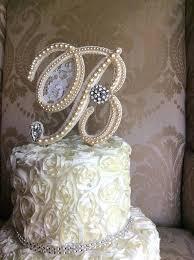 pearl cake topper monogram wedding cakes circle vine monogram wedding cake initials
