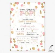 s shower invitations ready to pop baby shower invitation chagne baby shower gold