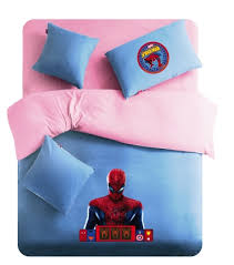 Spiderman Comforter Set Full Queen Twin Full Pink And Blue Spiderman Logo Spiderman Bedding For