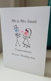 card for on wedding day made personalised wedding day cards button heads 2 99 diy