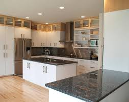 White Kitchen Cabinets With Black Countertops Kitchen Black Countertop Options Modern White Kitchen Cabinets