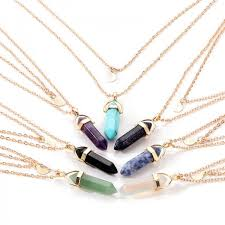 crystal necklace stone images Crystal pendant necklace natural stones jpg