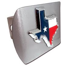 Image Of Texas Flag Amazon Com Texas Shape With Color All Metal Brushed Silver Hitch