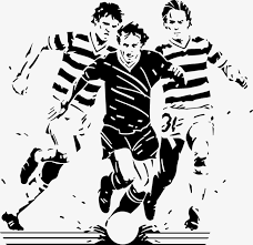 football player silhouette football athlete sketch png and