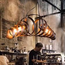 vintage pendant lights metal industrial decor loft dining room