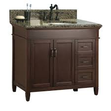 White Bathroom Vanity With Granite Top by Foremost Ashburn 37 In W X 22 In D Bath Vanity In Mahogany With