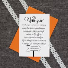 cards to ask bridesmaids will you be my bridesmaid vows card be my guest