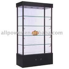 freestanding metal framed glass rack showcase lighted whiskey