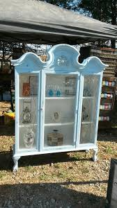 Hutch China Repurposed Hutch China Cabinet Top Added Legs And Chalk Painted