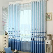 Nautical Curtain Ideas Ideas Nautical Design Idea Boat Pattern White And Blue Polyester