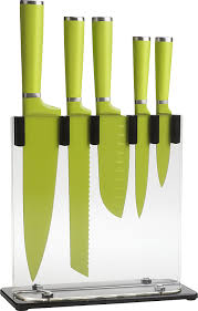 Kitchen Knives Set by Amazon Com Trudeau 5 Piece Knife Block Set Blue Knife Sets