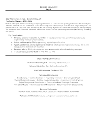 Sample Executive Resume Format by Resume Format For Purchase Manager Sample Resume Format