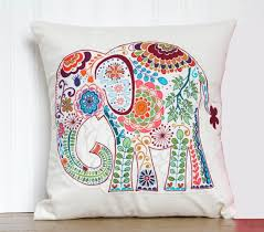 Elephant Pillow 12x12 Decorative Throw Pillow Cover with pink