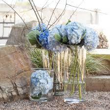 hydrangea centerpieces lush hydrangea centerpiece trio