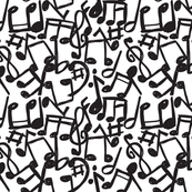music notes fabric wallpaper u0026 gift wrap spoonflower