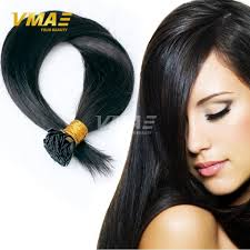 Pre Curled Hair Extensions by Pre Bonded Flat Tip Hair Extensions 1 Gram Strand Remy Human