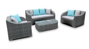 canapé jardin résine salon de jardin résine tressée gris usun mobilier moss