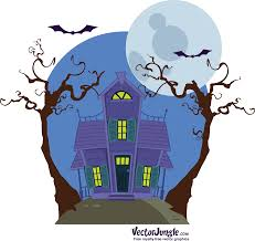 pictures of halloween haunted houses free download clip art