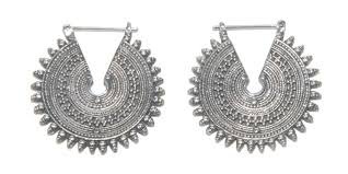gipsy earrings silver earrings identity piercing