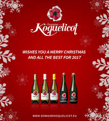 merry and all the best for 2017 domaine koquelicot