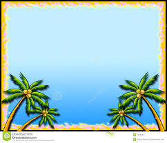 tropical palm tree border stock illustration illustration of