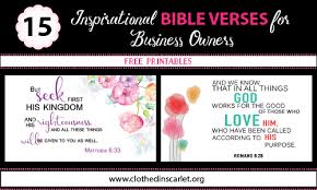 15 inspirational bible verses business owners free printables