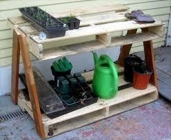 diy pallet work table reclaimed pallet work bench for garden pallets designs
