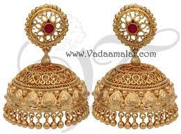 kerala style jhumka earrings large gold plated large jhumki jhumka jhumkas indian earring