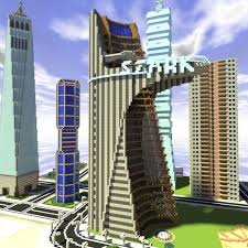 City Maps For Minecraft Pe The Stark Tower From The Avengers Film An Exact Replica