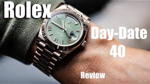 rolex day date 40 gold review