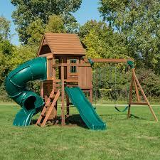 swing n slide grandview twist wood swing set hayneedle