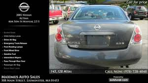 nissan altima 2005 gas mileage used 2005 nissan altima maximus auto sales leominster ma