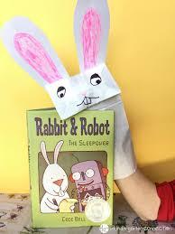 rabbit paper bag puppets spring craft