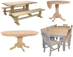 Unfinished Dining Room Furniture Delightful Ideas Unfinished Dining Table Bright Idea Low Prices