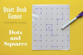 serving pink lemonade quiet book games part 5 dots and squares