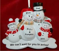 we re expecting our third child ornament personalized